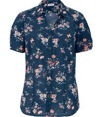 camicetta fantasia a maniche corte (blu) - john baner jeanswear