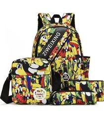 mochila/ camuflaje para adolescentes bolsas de-amarillo