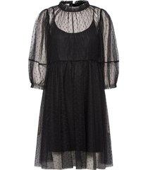 mira short dress knälång klänning svart designers, remix