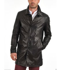 men leather coat winter long  leather coat genuine real leather trench coat-uk48