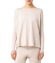 women's akris punto oversize wool sweater, size 16 - ivory