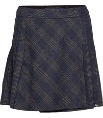 josie pleated tweed skirt kort kjol svart superdry