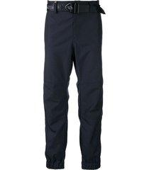 sankuanz belted track pants - blue