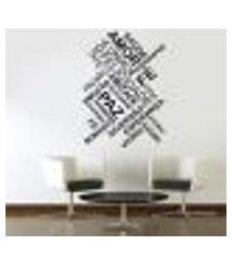 adesivo de parede frase amor. saúde. paz - g 90x64cm