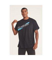 camiseta ecko plus size estampada preta