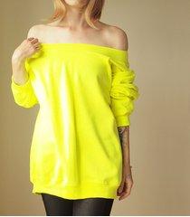 gruby oversize fluo żółty z