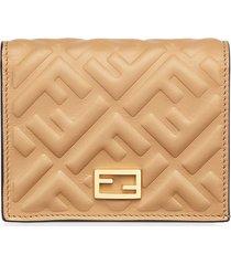 fendi baguette small wallet - neutrals
