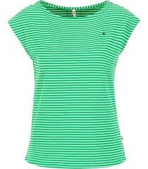 blutsgeschwister top logo green stripe