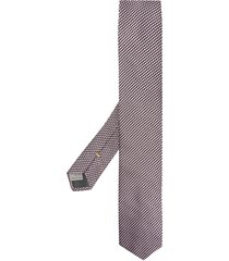canali woven pointed tip tie - pink