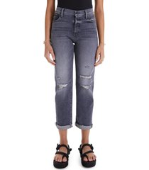 mother the scrapper rolled cuff straight leg jeans, size 23 in unstitched in the dark at nordstrom