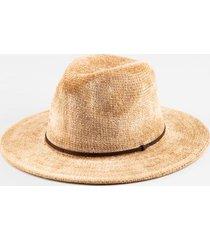 janice flat band panama hat - taupe