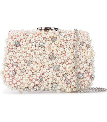 giambattista valli pearl embellished clutch bag - pink