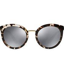 eternal 52mm round mirrored sunglasses