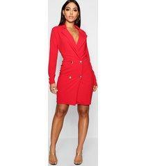 blazer jurk, rood