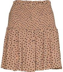 printed georgette kort kjol brun ganni