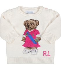 ralph lauren ivory sweater for babygirl with bear