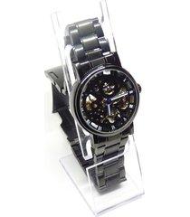 reloj hombre acero inoxidable maquinaria win256 negro