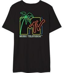 mtv neon light men's graphic t-shirt