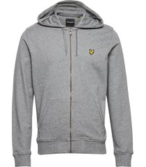 zip through hoodie hoodie trui grijs lyle & scott
