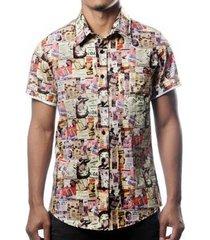 camisa camaleão urbano propaganda retrô masculina - masculino