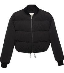 matt & nat kenya vegan bomber jacket, black