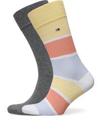 th men sock 2p rib color block underwear socks regular socks gul tommy hilfiger