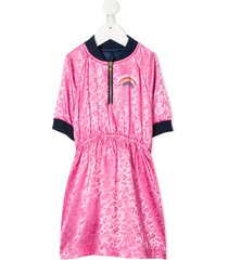 the marc jacobs kids embrace rainbow reversible dress - pink