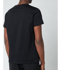 balmain men's printed logo t-shirt - black - xxl
