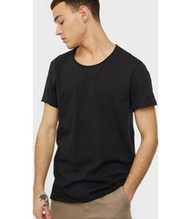 bread & boxers crew neck relaxed t-shirt t-shirts & linnen svart