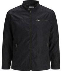 jack & jones jas zwart plus size suede look