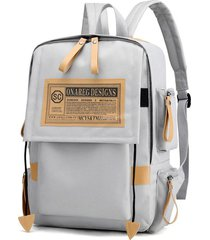 mochilas para laptop vintage oxford laptop backpack college school mochila