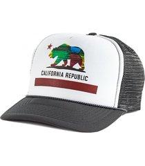 boné blanks co snap back california aba curva branco e cinza