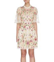 'trellis rose' mini dress