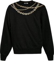 gcds chain print ribbed sweatshirt