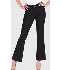 jeans wados flare azul - calce holgado