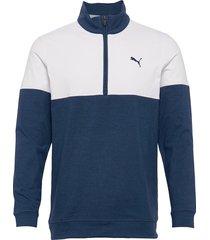 warm up 1/4 zip sweat-shirt tröja vit puma golf