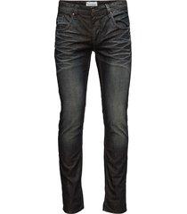 tapered fit jeans - michael jeans svart shine original