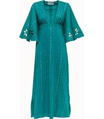 sundress abito lungo in cotone con ricamo