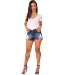 shorts jeans express hot pants upcycle azul - azul - feminino - dafiti