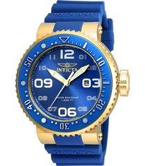 reloj invicta azul modelo 215aa para hombres, colección pro diver