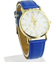 reloj pulsera azul ancla dorada re-25803