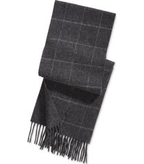 polo ralph lauren men's reversible windowpane plaid scarf