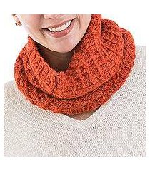 alpaca blend neck warmer, 'lyrical nasturtium' (peru)