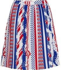 flag skirt kort kjol multi/mönstrad calvin klein jeans