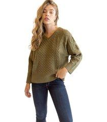 sweater lorena verde militar racaventura