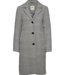 anf womens outerwear wollen jas lange jas grijs abercrombie & fitch