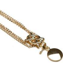 colar key design kent gold feminino