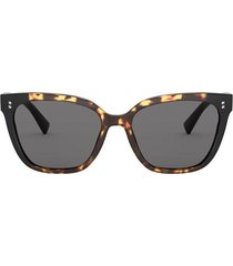 valentino valentino va4070 havana gradient black sunglasses