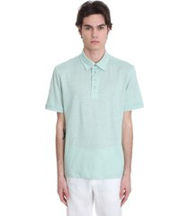 ermenegildo zegna polo in green linen