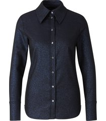 fitted lurex shirt